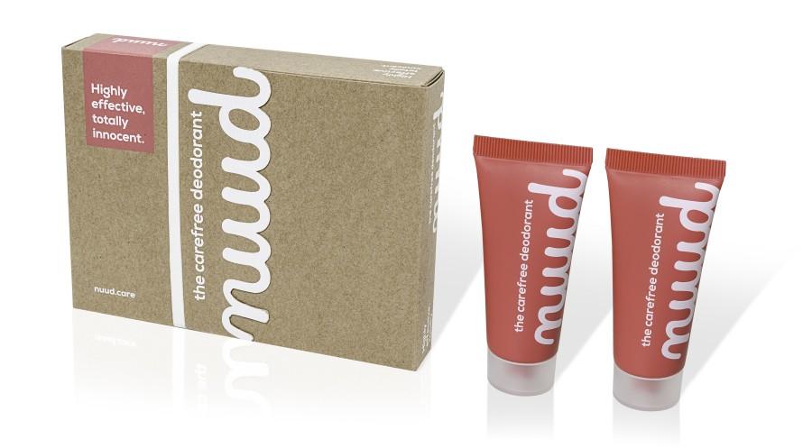 100% natūralus ir veganinis dezodorantas Nuud su mikro sidabru gudresnis rinkinys 2x20ml