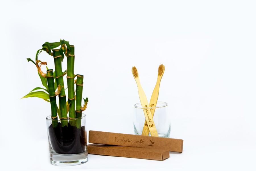 Bambukinis dantų šepetukas 1 vnt.
