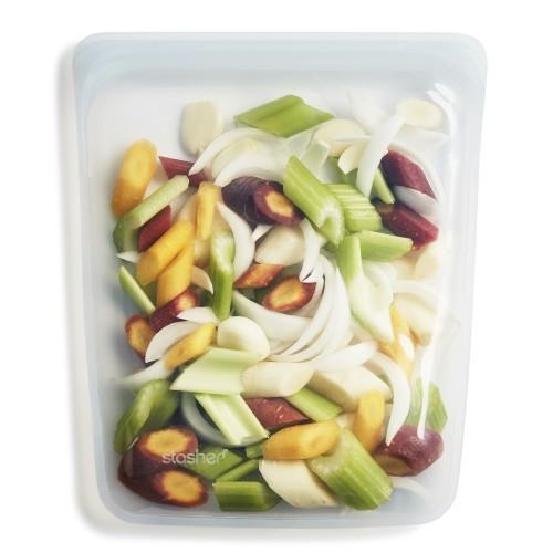 Daugkartinio naudojimo didysis skaidrus stasher silikoninis maišelis