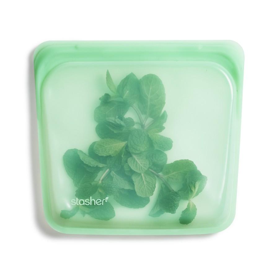 Daugkartinio naudojimo silikoninis sumuštinių maišelis Mėta