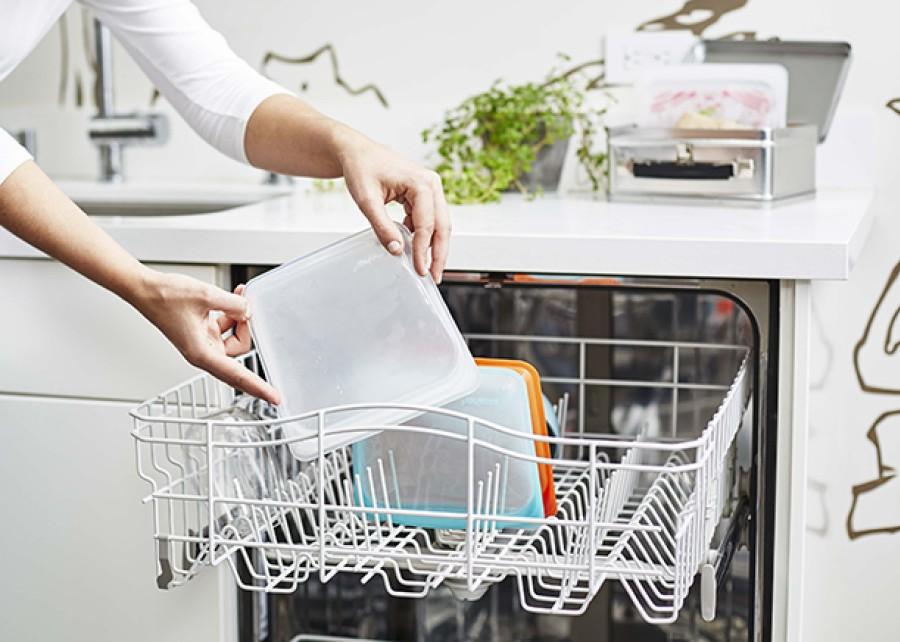 Daugkartinio naudojimo skaidrių silikoninių maišelių rinkinys