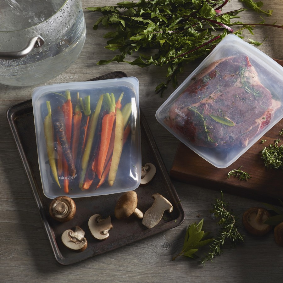 Daugkartinių neplastikinių stasher maišelių rinkinys (3 vnt)