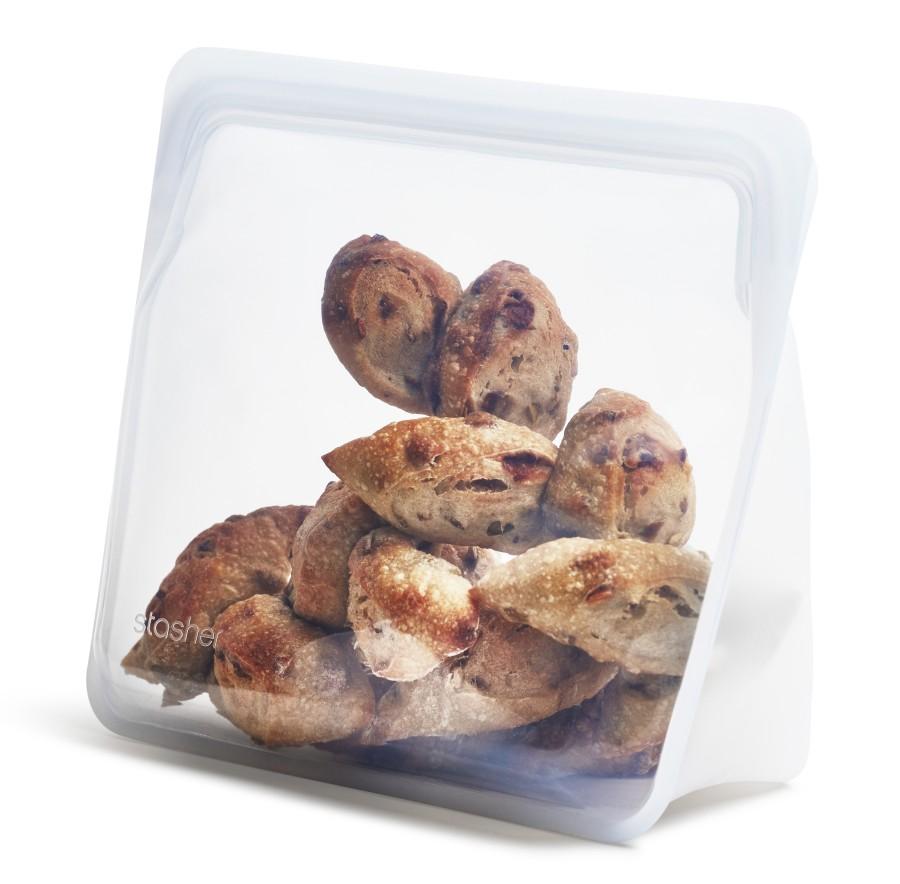 Daugkartinių neplastikinių stasher stand-up MEGA maišelių rinkinys (2vnt)
