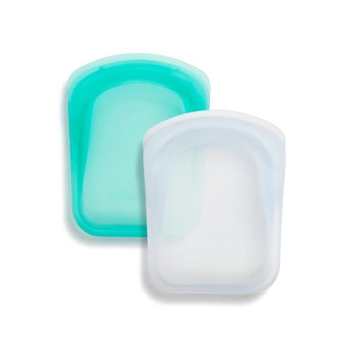 Daugkartinio naudojimo 2 vnt. kišeninių maišelių rinkinys (Skaidrus ir Aqua)