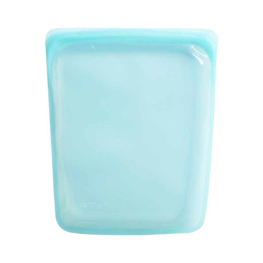 Daugkartinio naudojimo didysis Aqua silikoninis maišelis