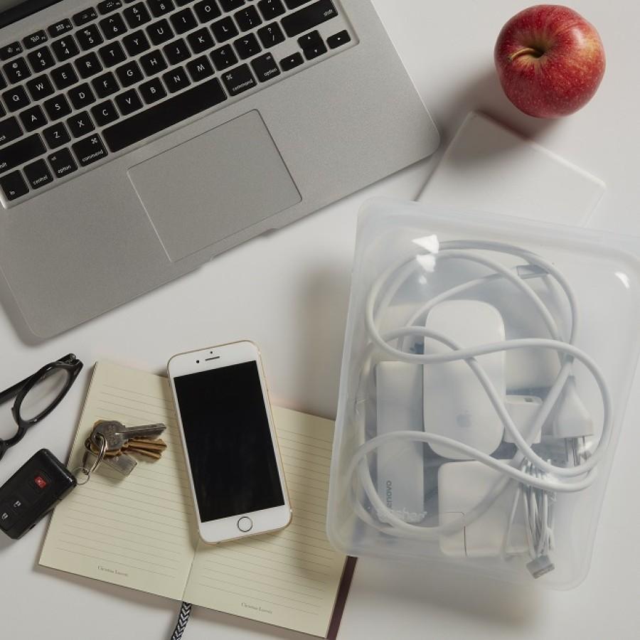 Daugkartinio naudojimo didysis skaidrus silikoninis maišelis