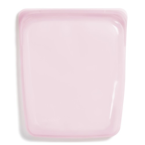 Daugkartinio naudojimo didysis stasher silikoninis maišelis vaivorykštės rožinė