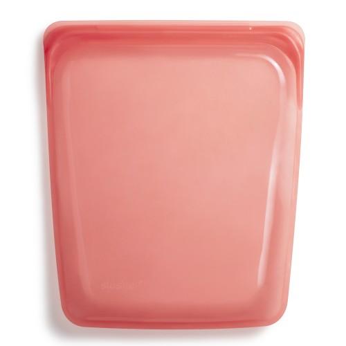 Daugkartinio naudojimo didysis stasher silikoninis maišelis vaivorykštės raudona