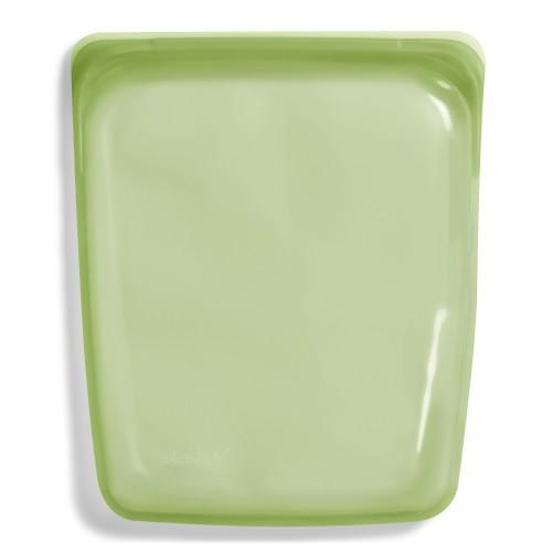 Daugkartinio naudojimo didysis stasher silikoninis maišelis vaivorykštės žalia