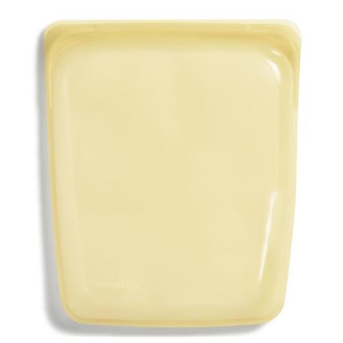 Daugkartinio naudojimo didysis stasher silikoninis maišelis vaivorykštės geltona