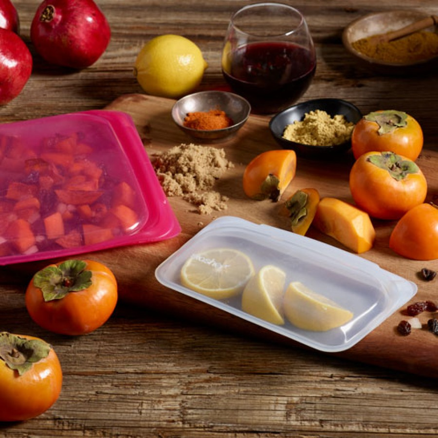 Daugkartinio naudojimo silikoninis stasher sumuštinių maišelis Avietė