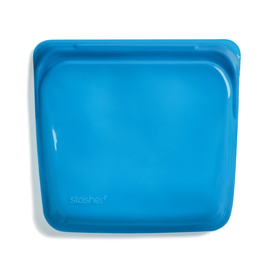 """Daugkartinio naudojimo silikoninis sumuštinių maišelis """"Mėlynės"""""""