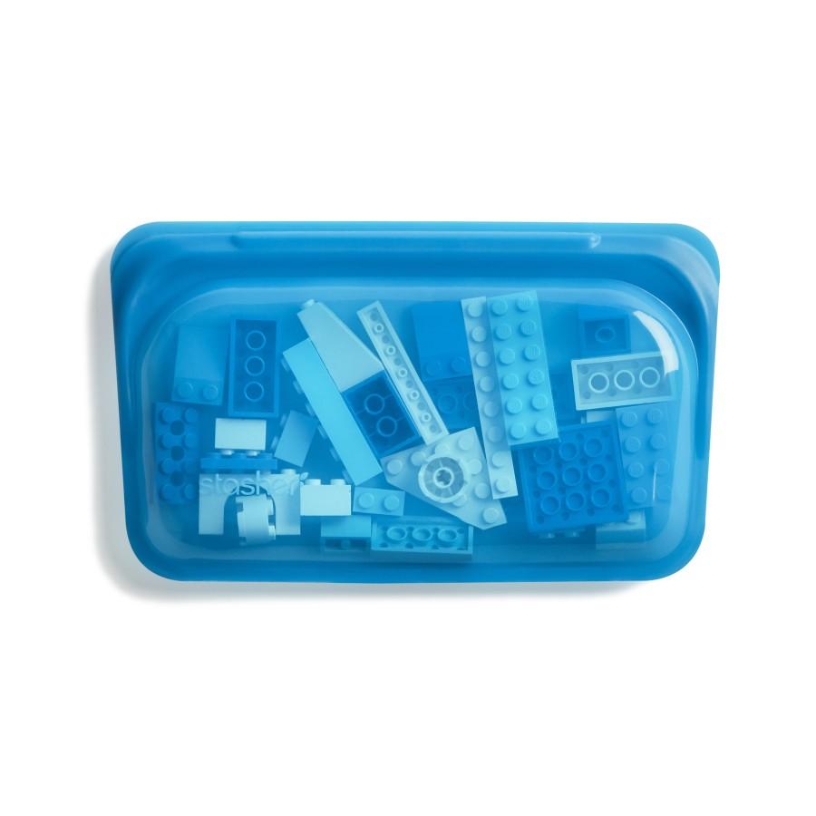 """Daugkartinio naudojimo silikoninis užkandžių maišelis """"Mėlynė"""""""