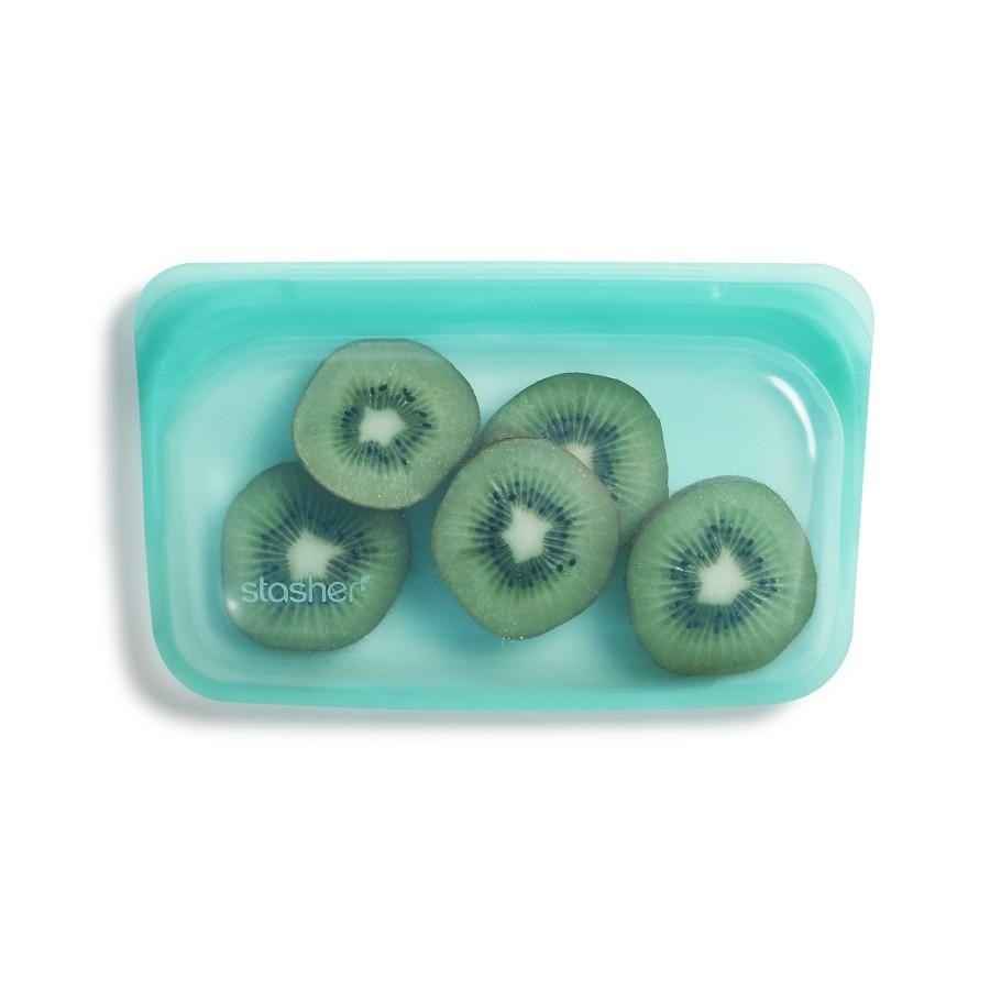 Daugkartinio naudojimo silikoninių maišelių rinkinys VISI aqua (7 vnt.)