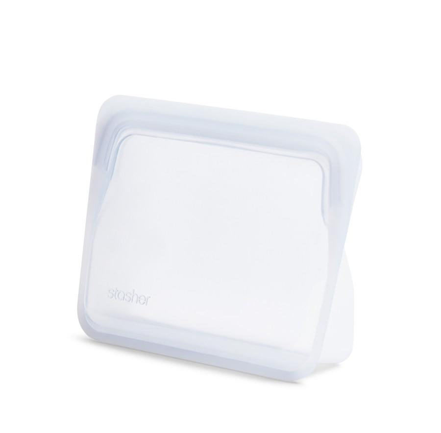 Daugkartinio naudojimo stand-up mini skaidrus stasher silikoninis maišelis