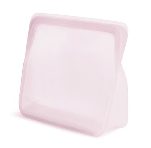 Daugkartinio naudojimo stand-up stasher silikoninis maišelis vaivorykštės rožinė