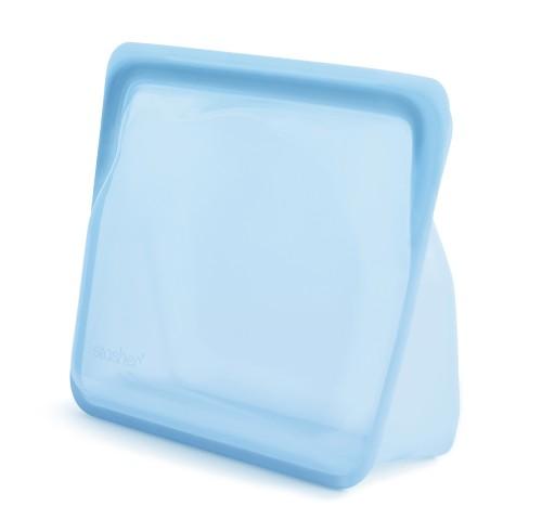 Daugkartinio naudojimo stand-up stasher silikoninis maišelis vaivorykštės mėlyna