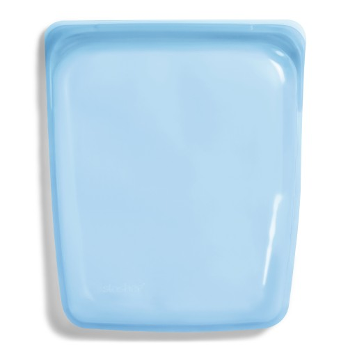 Daugkartinio naudojimo didysis stasher silikoninis maišelis vaivorykštės mėlyna