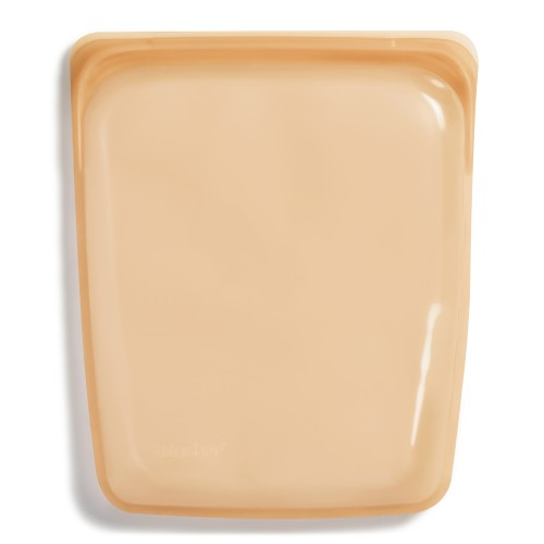 Daugkartinio naudojimo didysis stasher silikoninis maišelis vaivorykštės oranžinė