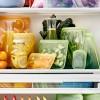 Daugkartinio naudojimo silikoninis stasher sumuštinių maišelis vaivorykštės žalia