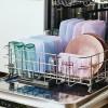 Daugkartinio naudojimo silikoninis stasher sumuštinių maišelis vaivorykštės levandų