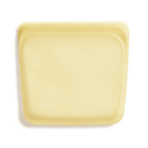 Daugkartinio naudojimo silikoninis sumuštinių maišelis vaivorykštės geltona