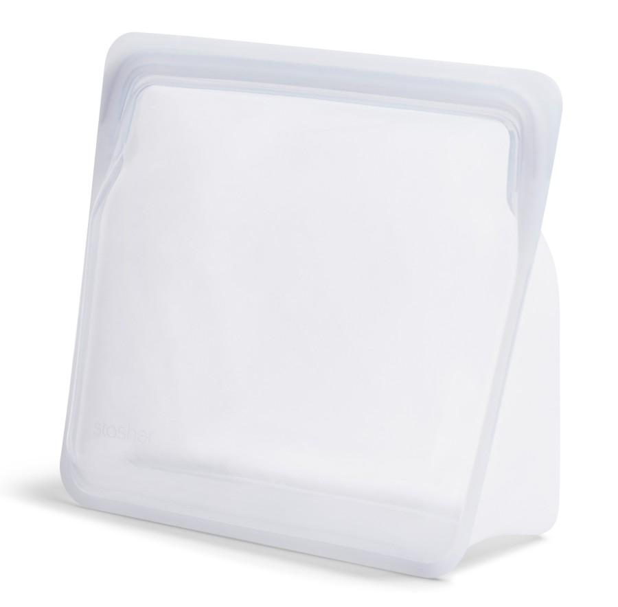 Daugkartinio naudojimo stand-up mega skaidrus stasher silikoninis maišelis