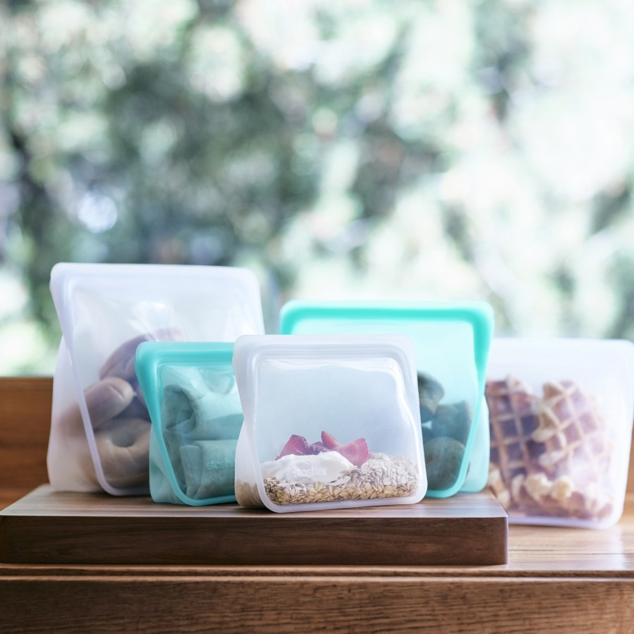 Reusable silicone stand-up mini aqua bag